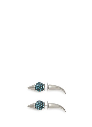 Main View - Click To Enlarge - AMANDA MOUNSER - Crystal horn spike earrings