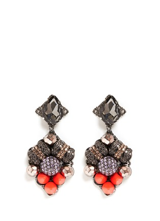 Main View - Click To Enlarge - MOUNSER - Neon spike crystal drop earrings