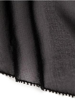 Detail View - Click To Enlarge - FLEUR DU MAL - Silk chiffon mini babydoll slip