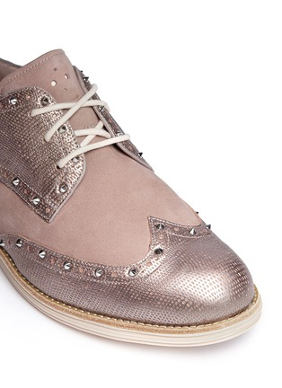 Detail View - Click To Enlarge - Cole Haan - 'LunarGrand Wingtip' metallic leather brogues