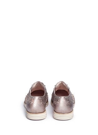 Back View - Click To Enlarge - Cole Haan - 'LunarGrand Wingtip' metallic leather brogues