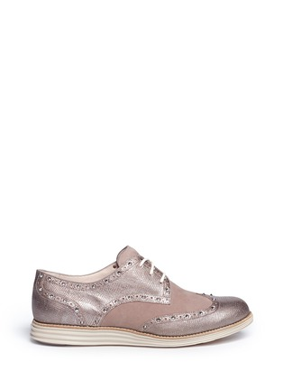 Main View - Click To Enlarge - Cole Haan - 'LunarGrand Wingtip' metallic leather brogues