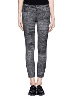 HELMUT LANGSediment print cropp skinny jeans