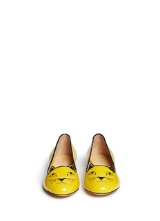 CHARLOTTE OLYMPIA 'Kitty Studs' patent leather flats