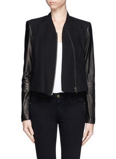 HELMUT LANGContrast sleeve jacket