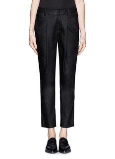 HELMUT LANGGlossy linen twill pleat pants