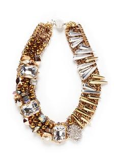 ASSAD MOUNSERMetallic spike rhinestone collar necklace