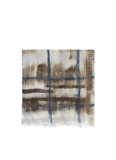 FALIERO SARTI 'Macchietta' abstract plaid cashmere-silk scarf