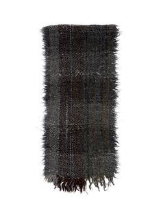 FALIERO SARTI'Pongo' bouclé plaid scarf
