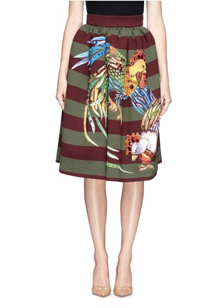 Main View - Click To Enlarge - STELLA JEAN - 'Veruska' acrylic rooster print structured skirt
