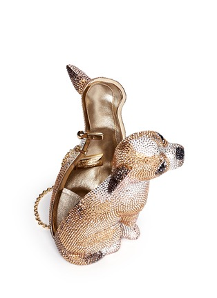 Detail View - Click To Enlarge - Judith Leiber - 'Chihuahua' crystal pavé minaudière