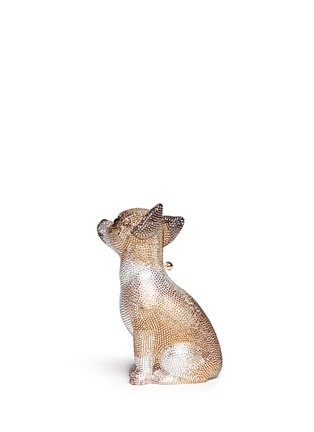 Front View - Click To Enlarge - Judith Leiber - 'Chihuahua' crystal pavé minaudière