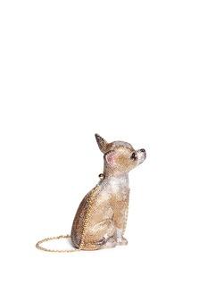 JUDITH LEIBER'Chihuahua' crystal pavé minaudière