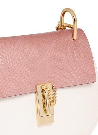imitation chloe handbags - CHLO�� - 'Drew' small python leather shoulder bag | Pink Day ...