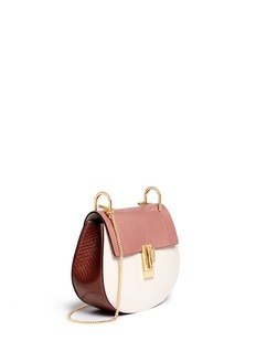 CHLOÉ 'Drew' small python leather shoulder bag