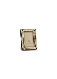 L'OBJET编织形镀铂金相框(3寸)