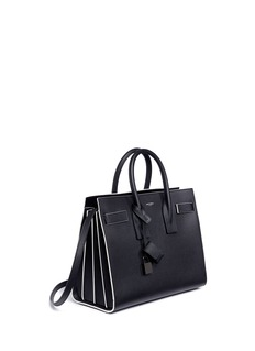 Saint Laurent 'Sac de Jour' small contrast trim grainy leather bag