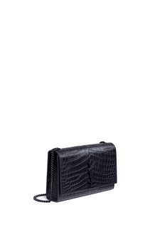 Saint Laurent 'Classic Medium Kate Monogram' croc embossed leather satchel
