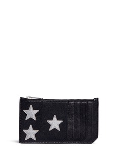 Saint Laurent 'Rider California' star patch leather pocket organiser