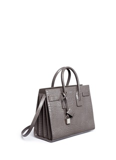 Saint Laurent 'Sac de Jour' small croc embossed leather bag