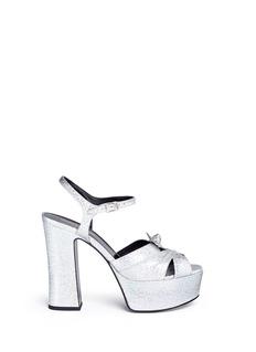 Saint Laurent'Candy' coarse glitter leather sandals
