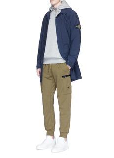Stone IslandGarment dye cotton jogging pants