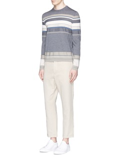 Theory 'Sandes' stripe wool sweater