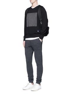 rag & bone'Rowing' stripe appliqué cotton sweatshirt