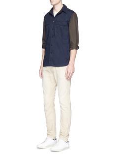 rag & bone'Jack' colourblock cotton shirt