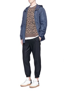 Alexander Wang Leopard intarsia wool-cashmere sweater