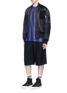 Alexander Wang Pole dancer embroidered stripe long sleeve T-shirt