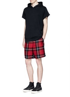 Alexander Wang  Check plaid wool flannel shorts
