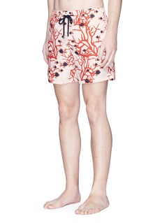 Vilebrequin 'Moorea' coral and fish print swim shorts