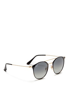 Ray-Ban 'RB3546' coated metal round sunglasses