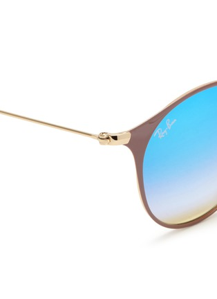 Detail View - Click To Enlarge - Ray-Ban - 'RB3546' coated metal round mirror sunglasses