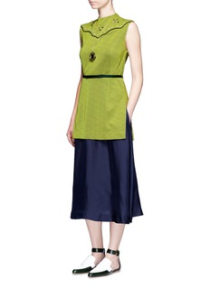 TOGA ARCHIVESEmbellished layered vest belted dress