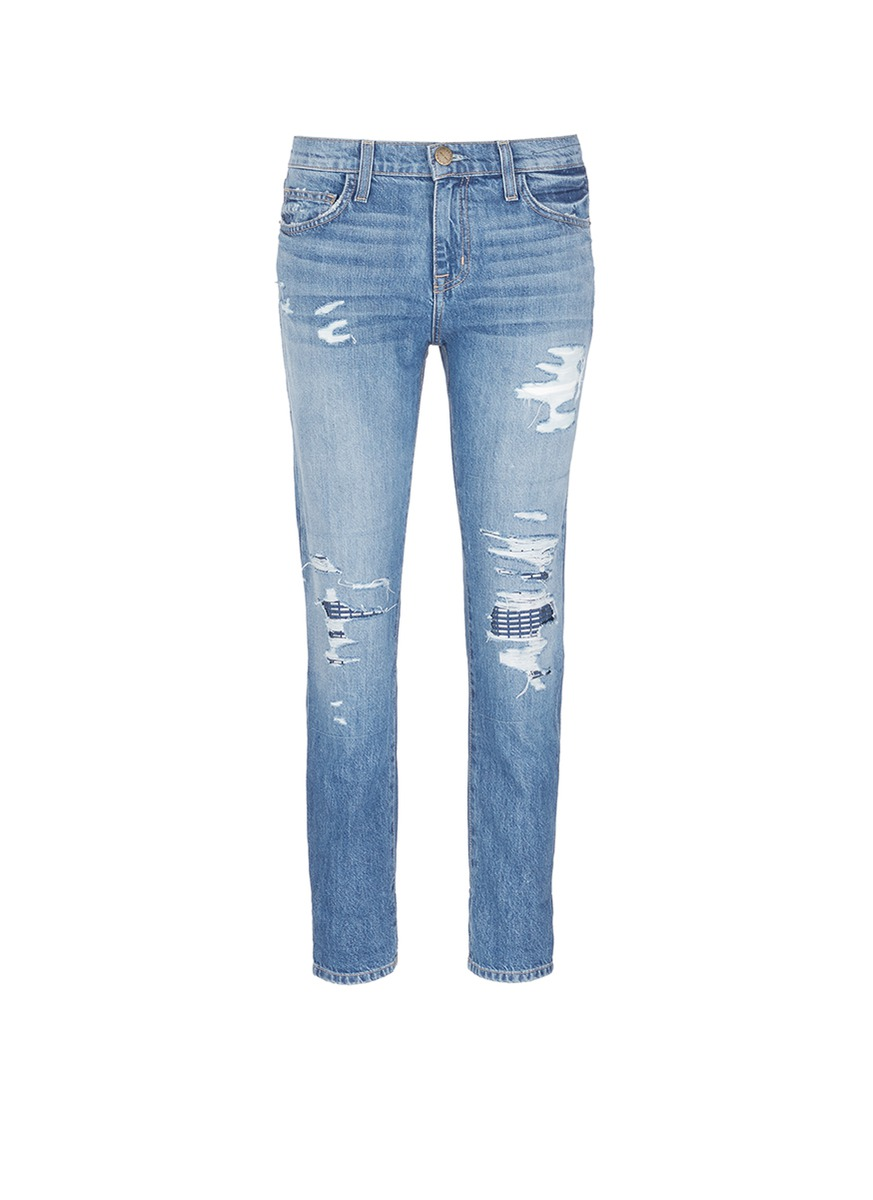 The Fling stud knee distressed jeans by Current/Elliott