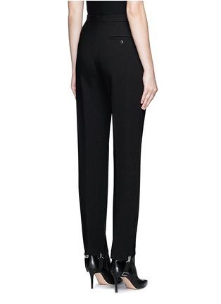 Back View - Click To Enlarge - Balenciaga - Elastic stirrup strap twill pants