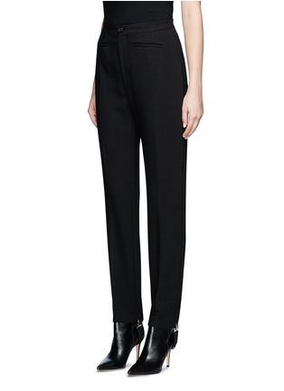 Front View - Click To Enlarge - Balenciaga - Elastic stirrup strap twill pants
