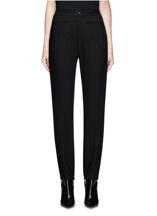 Main View - Click To Enlarge - Balenciaga - Elastic stirrup strap twill pants