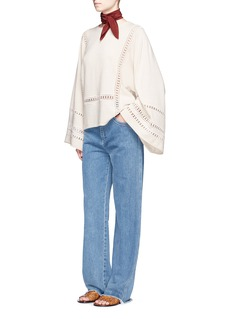 Chloé Dot embroidery wool-cashmere sweater