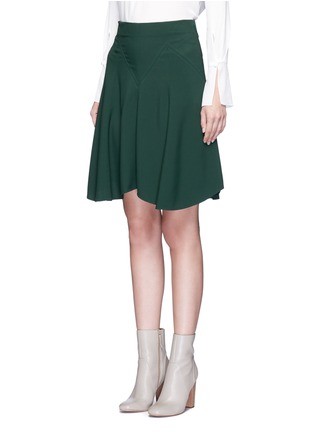Front View - Click To Enlarge - Chloé - Curve hem cady skirt