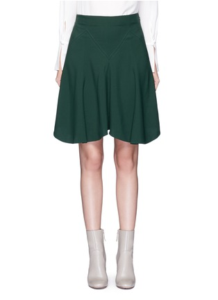 Main View - Click To Enlarge - Chloé - Curve hem cady skirt