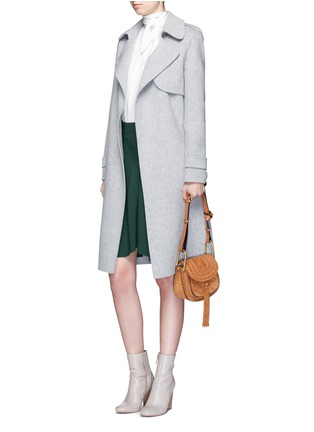 Figure View - Click To Enlarge - Chloé - Curve hem cady skirt