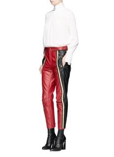 ChloéColourblock cow leather biker pants