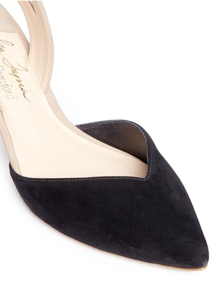 Detail View - Click To Enlarge - Isa Tapia - 'Clementina' slingback suede d'Orsay pumps