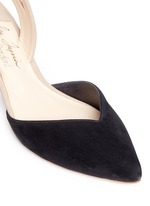 'Clementina' slingback suede d'Orsay pumps