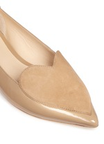 'Clement' suede heart patent leather skimmer flats