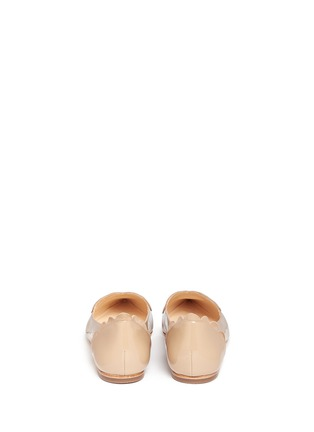 Isa Tapia - 'Clement' suede heart patent leather skimmer flats
