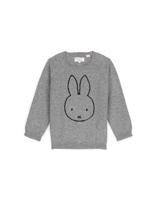 Main View - Click To Enlarge - Chinti And Parker - x Miffy 'Miffy Face' cashmere kids sweater